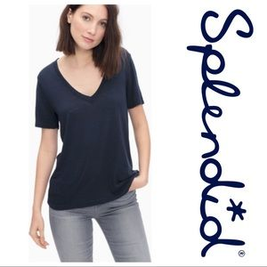 SPLENDID Short Sleeve Everly V-Neck T-Shirt NWT